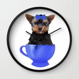 Teacup Yorkie Wall Clock