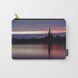 Pink Sky Over The Lichfield Cathedral Carry-All Pouch