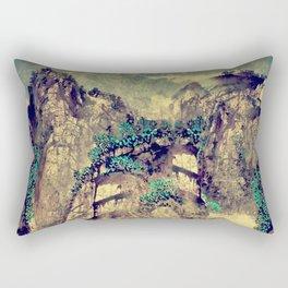 The Hills of Yunnan Rectangular Pillow
