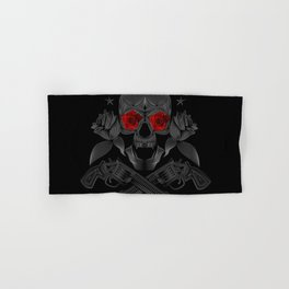 Skull, roses and guns Hand & Bath Towel