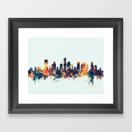 Houston Texas Skyline Framed Art Print