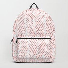 Living Coral Herringbone Backpack