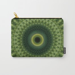 Mandala in green and yellow colors Carry-All Pouch
