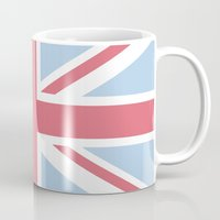union jack Mugs featuring Union Jack by Alesia D