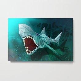 Shark Modern Art Illustration Metal Print
