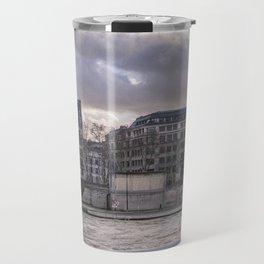Seine wharf, Paris, France Travel Mug