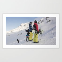 Skiers 2017 Art Print