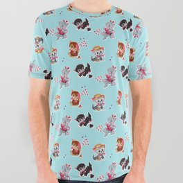 Zombie Cats All Over Graphic Tee