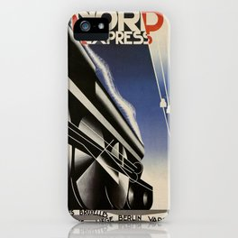 Vintage poster - Nord Express iPhone Case