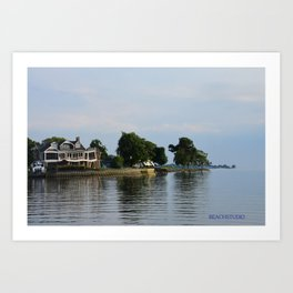 Crooked Boathouse Art Print
