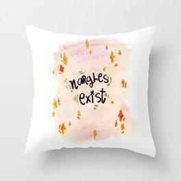 Nargles Exist Throw Pillow