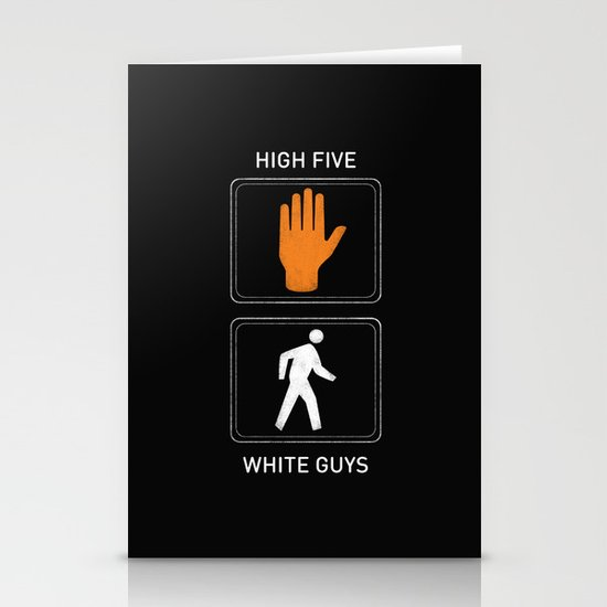 High Five White Guys Stationery Cards