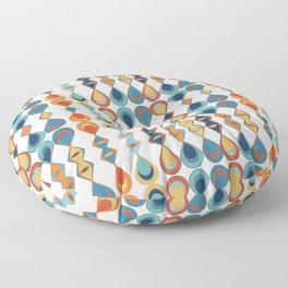 Mid Century Drop Pattern Floor Pillow