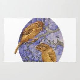 Two Winter Sparrows Rug