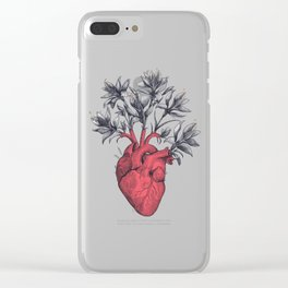 Blooming heart Clear iPhone Case