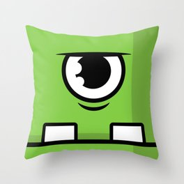 Monsters⁴ : Green Throw Pillow