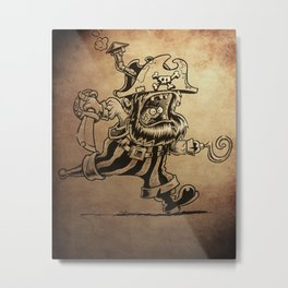 Steam powered Pirate Metal Print