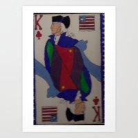 card Art Prints featuring card by drjoe35