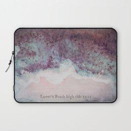 Lover's Beach High Tide Vintage Shoreline Laptop Sleeve