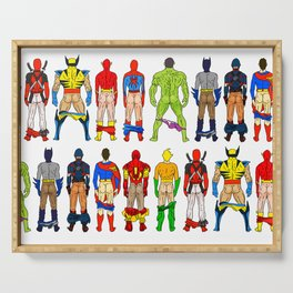 Superhero Butts Serving Tray
