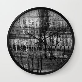 Grayscale Stains Wall Clock