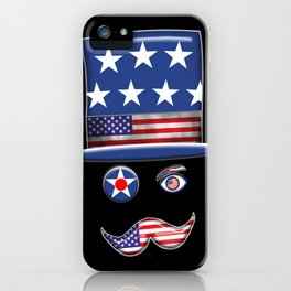 Stars And Stripes Man. iPhone Case