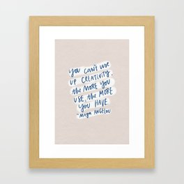 creativity quote Framed Art Print