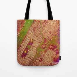 Central Park New York, old map, vintage old map, mapa antiguo, american map Tote Bag