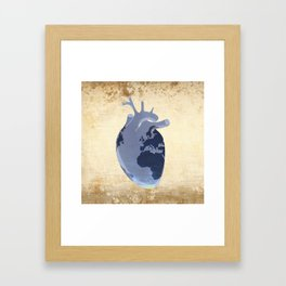 The earth is our heart - EARTH DAY '16 - all artist profits to be donated Framed Art Print