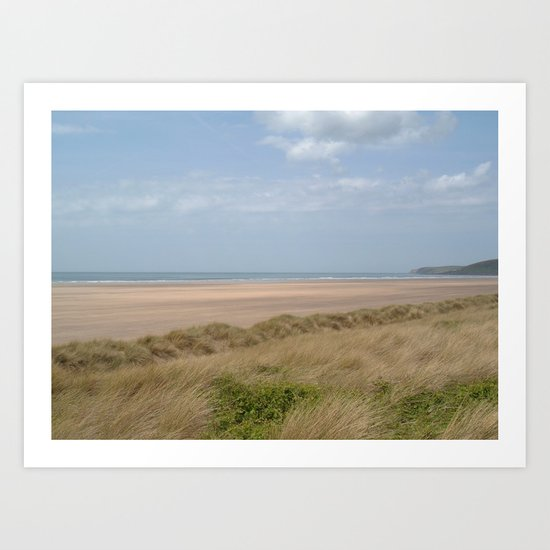 SAUNTON SANDS BEACH NORTH DEVON Art Print