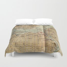 Vintage Map of Ottawa Canada (1894) Duvet Cover