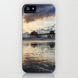 Huntington Beach Pier Sunset   12-19-13 iPhone Case
