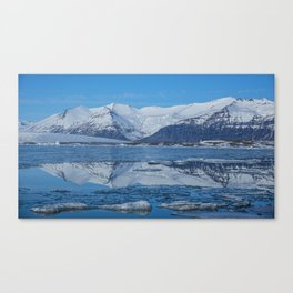 Ice lagoon Reflections Iceland Canvas Print