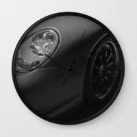 sports Wall Clocks featuring Sports Car by Fine2art