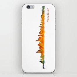 Vancouver Canada City Skyline Hq v01 iPhone Skin