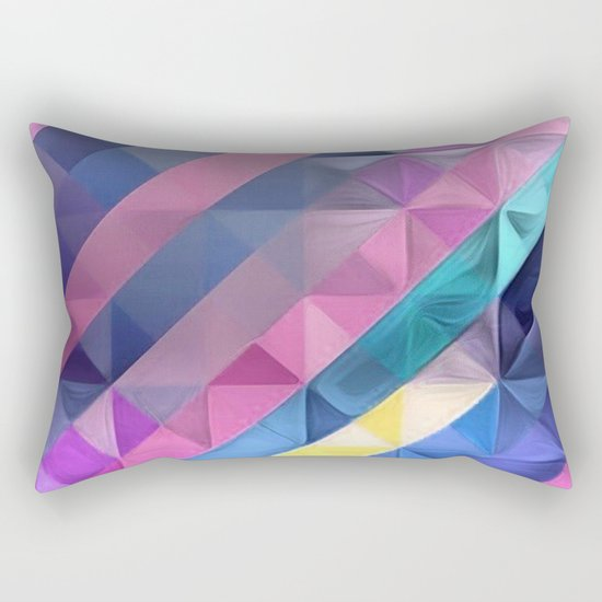 Geometric Abstract Pastel Rainbow Rectangular Pillow