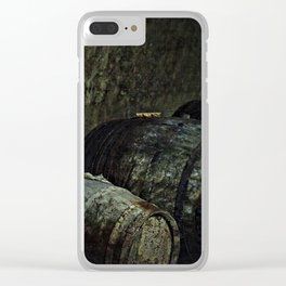 Barrels dark painterly Clear iPhone Case
