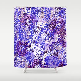 sparkling dots in ultramarine Shower Curtain
