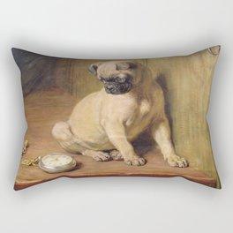 Briton Riviere - Tick Tack. Rectangular Pillow