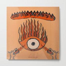 misterio visual 5: mirada infernal Metal Print