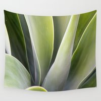 succulent Wall Tapestries featuring Succulent by JMPhotography