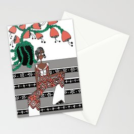 She's on the Steps Stationery Cards