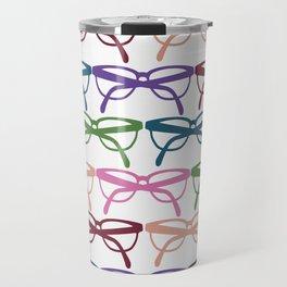 Optometrist Eye Glasses Pattern Print Travel Mug