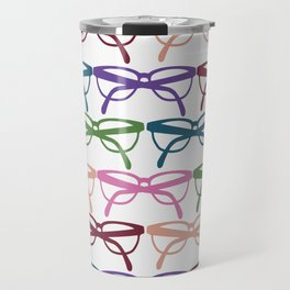 Optometrist Eye Glasses Pattern Print Travel Mug