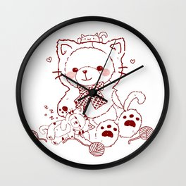 The Adventures of Bear and Baby Bear-Cats Wall Clock