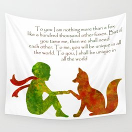 Little Prince Quote Wall Tapestry