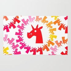 Color Me Red Unicorn Rug
