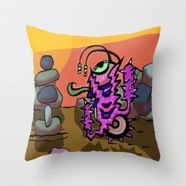 The Bobblegrinder Throw Pillow
