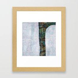 Forest White  Framed Art Print