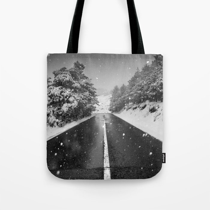 """The road"". Bw Tote Bag"